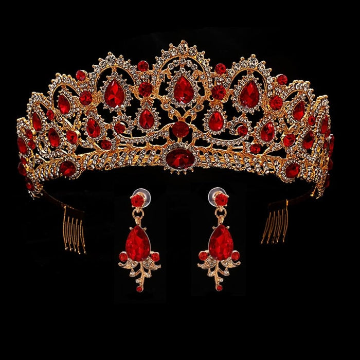 Headband Princess Handmade Jewelry Tiaras | Bridelily - red - tiaras
