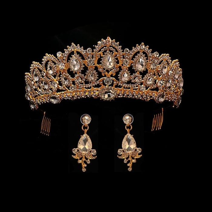 Headband Princess Handmade Jewelry Tiaras | Bridelily - gold - tiaras