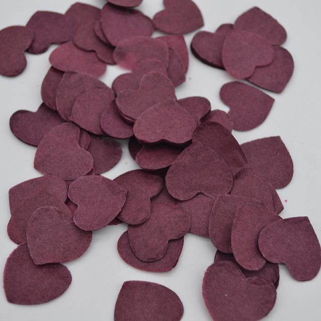 Heart Shape Wedding Decorations (1000pcs) | Bridelily - HC08burgundy - wedding decorations