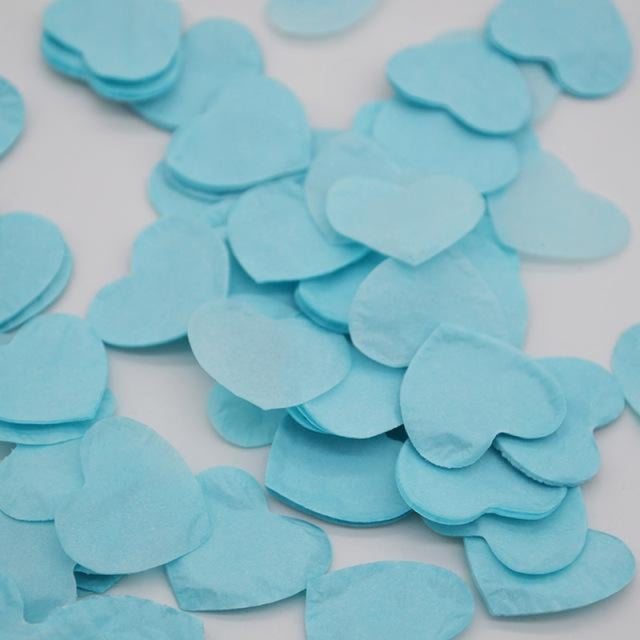 Heart Shape Wedding Decorations (1000pcs) | Bridelily - HC12baby blue - wedding decorations