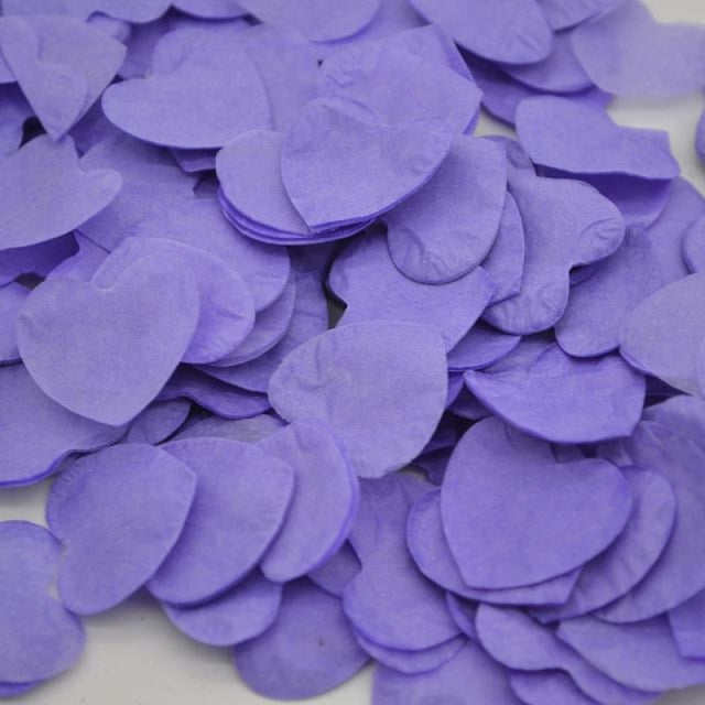Heart Shape Wedding Decorations (1000pcs) | Bridelily - HC21light purple - wedding decorations