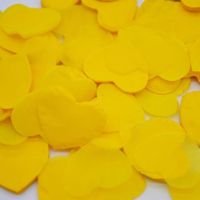 Heart Shape Wedding Decorations (1000pcs) | Bridelily - HC24yellow - wedding decorations