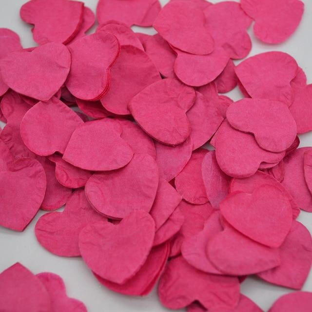 Heart Shape Wedding Decorations (1000pcs) | Bridelily - HC06fuchsia - wedding decorations