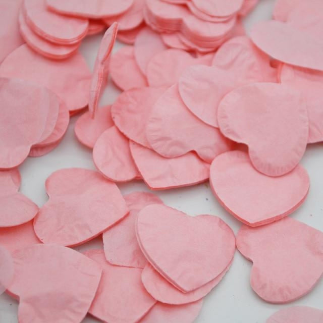 Heart Shape Wedding Decorations (1000pcs) | Bridelily - HC03rose pink - wedding decorations