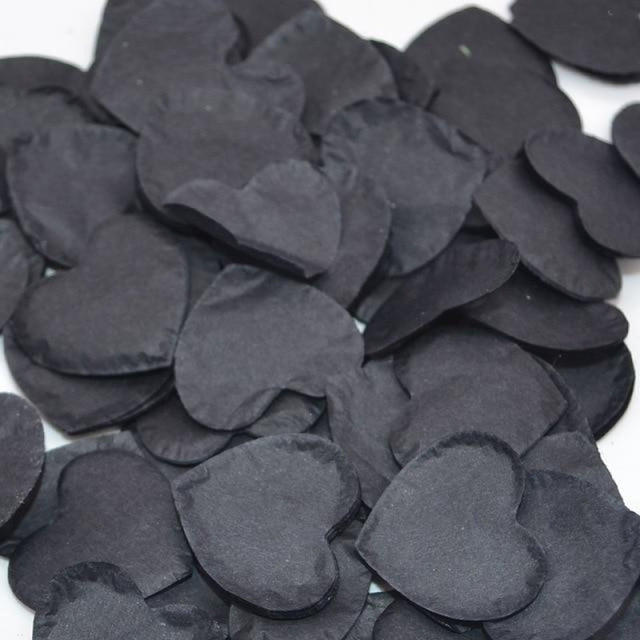 Heart Shape Wedding Decorations (1000pcs) | Bridelily - HC28black - wedding decorations