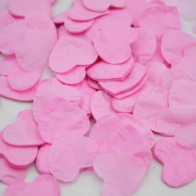 Heart Shape Wedding Decorations (1000pcs) | Bridelily - HC04pink - wedding decorations