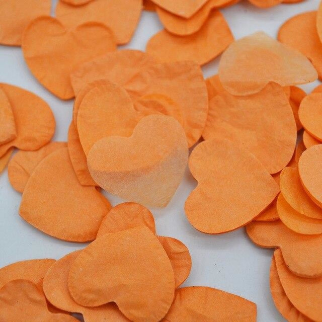 Heart Shape Wedding Decorations (1000pcs) | Bridelily - HC10orange - wedding decorations