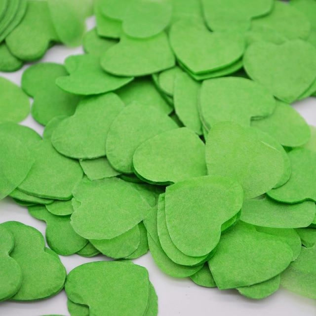 Heart Shape Wedding Decorations (1000pcs) | Bridelily - HC19green - wedding decorations