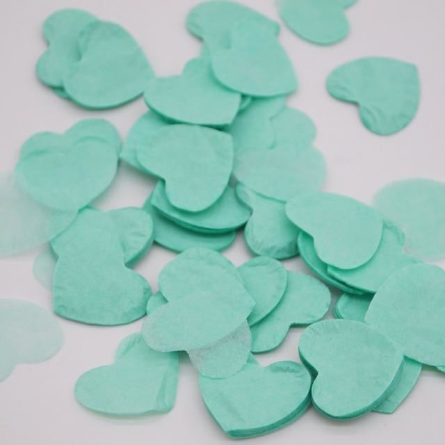 Heart Shape Wedding Decorations (1000pcs) | Bridelily - HC16mint green - wedding decorations
