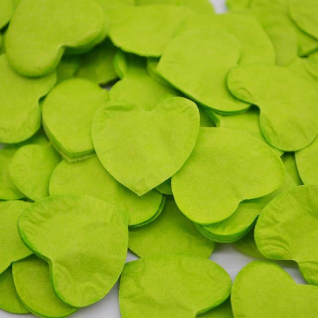Heart Shape Wedding Decorations (1000pcs) | Bridelily - HC18lime green - wedding decorations