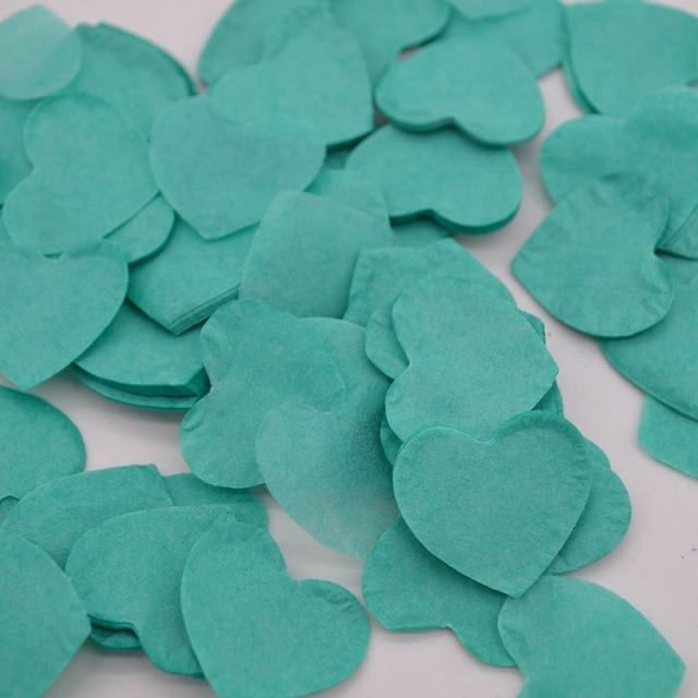 Heart Shape Wedding Decorations (1000pcs) | Bridelily - HC17teal - wedding decorations