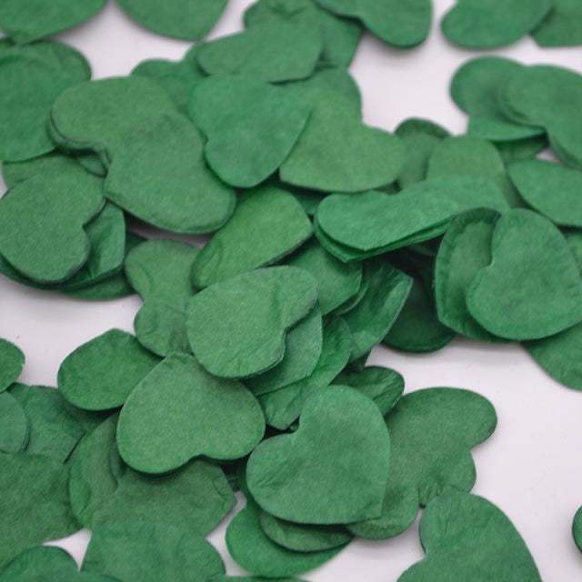 Heart Shape Wedding Decorations (1000pcs) | Bridelily - HC20kelly green - wedding decorations