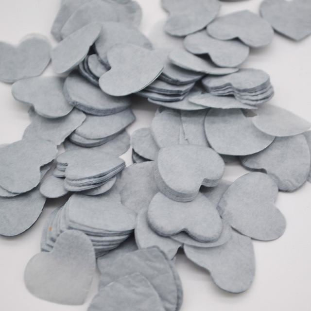 Heart Shape Wedding Decorations (1000pcs) | Bridelily - HC25gray - wedding decorations