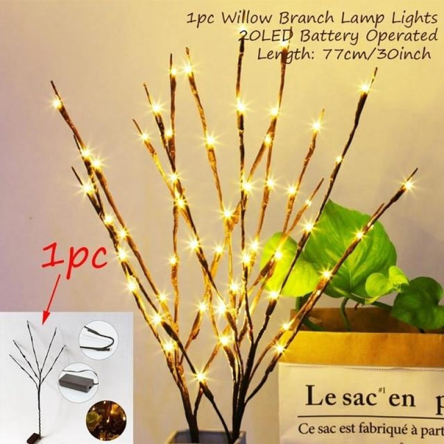 Hen Bachelorette Party Decor Wedding Decorations | Bridelily - 20 led willow branch - wedding decorations