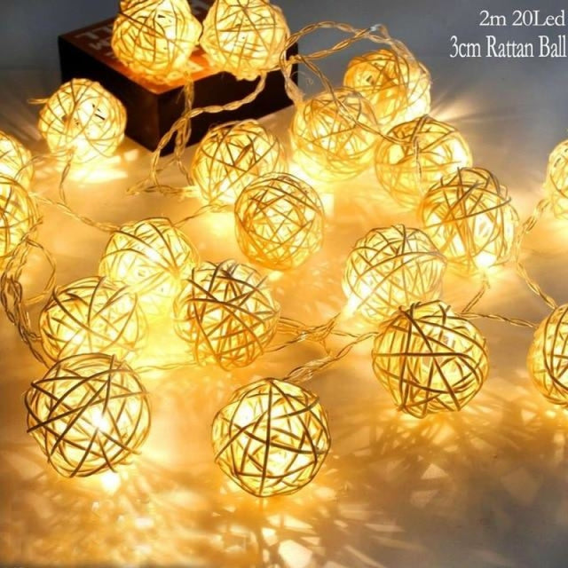 Hen Bachelorette Party Decor Wedding Decorations | Bridelily - 20 LED Rattan Ball - wedding decorations