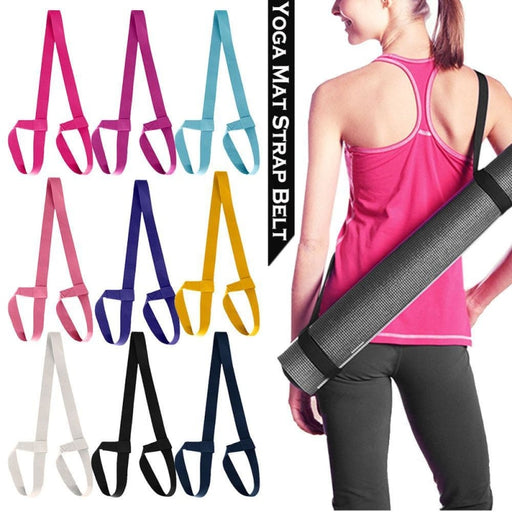 High Quality Yoga Mat Strap Belt Adjustable Sports Sling Shoulder Carry Belt Exercise Elastic Yoga Belt - yoga belts