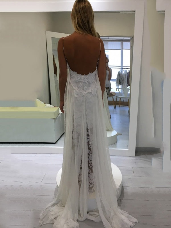 Hollie Inspiration French Lace Dresses Bohemian Wedding Dresses - wedding dresses