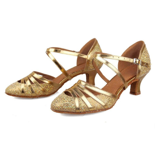 Hollow Lace-Up Sequined Ballroom Dance Shoes | Bridelily - ballroom dance shoes
