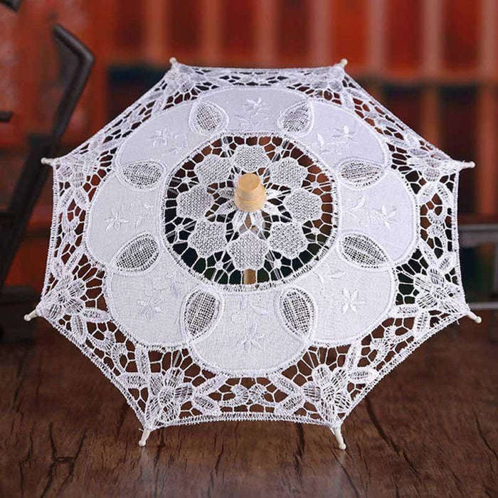 Hollow Out Embroidery Lace Wedding Umbrellas | Bridelily - wedding umbrellas