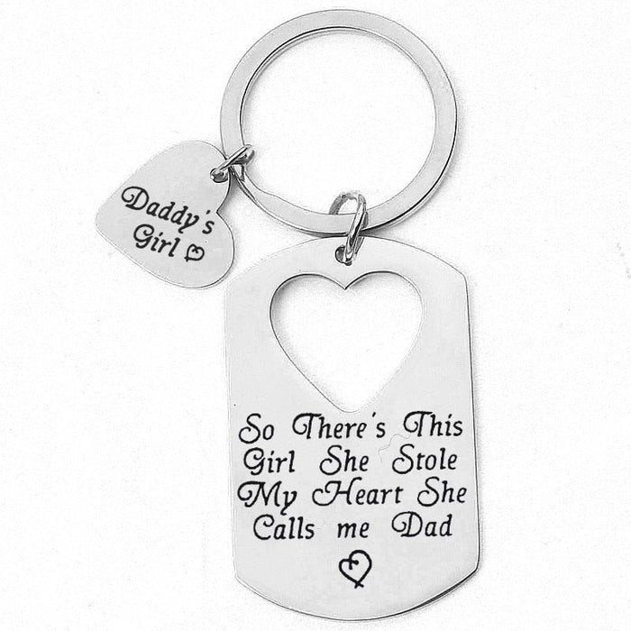 Hollow out Heart Letter Alloy Keychain Favors | Bridelily - keychain favors