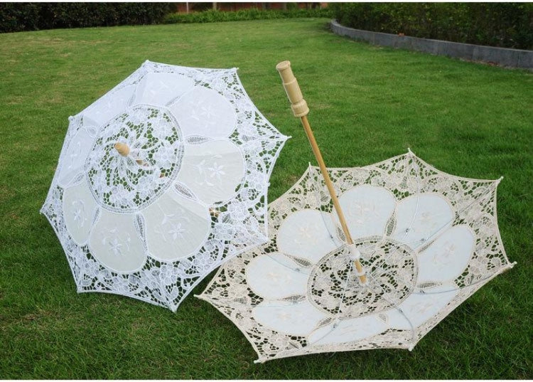 Hot Sale White Handmade Wedding Umbrellas | Bridelily - wedding umbrellas