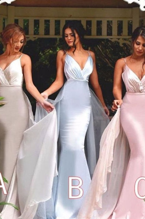 Hot Selling Bridesmaid Dresses Mermaid Spaghetti Straps Satin - Bridesmaid Dresses