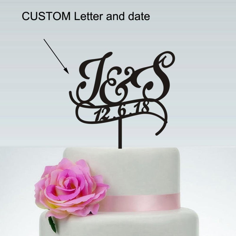 Initials Personalized Wedding Cake Toppers | Bridelily - cake toppers