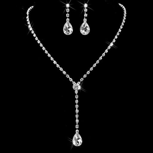 Inspired Style Crystal Necklace Earrings Jewelry Sets | Bridelily - jewelry sets