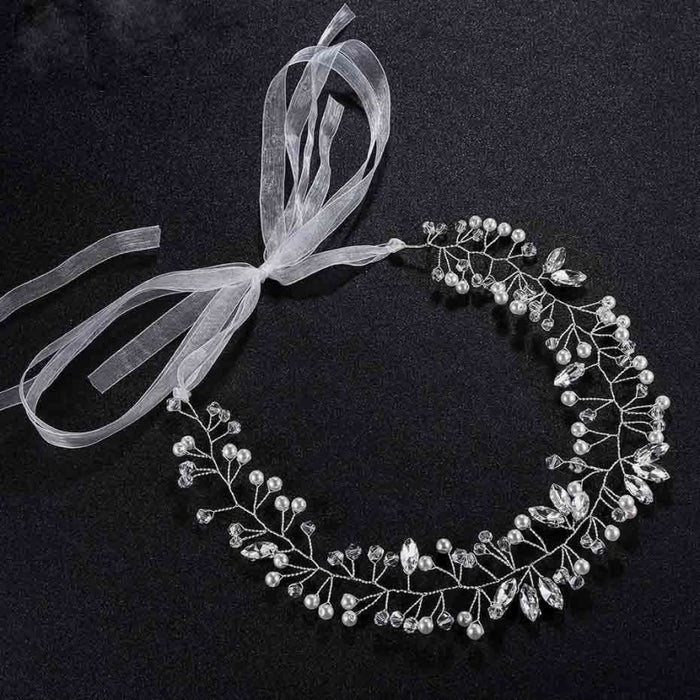 Ivory Pearl Crystal Jewelry Womens Headbands | Bridelily - headbands