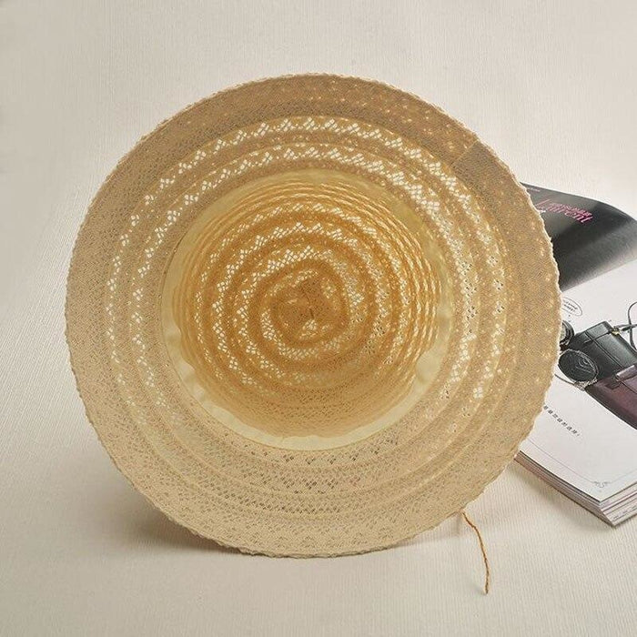 Lace Flower Straw Rattan Weave Beach/Sun Hats | Bridelily - bowler/cloche hats