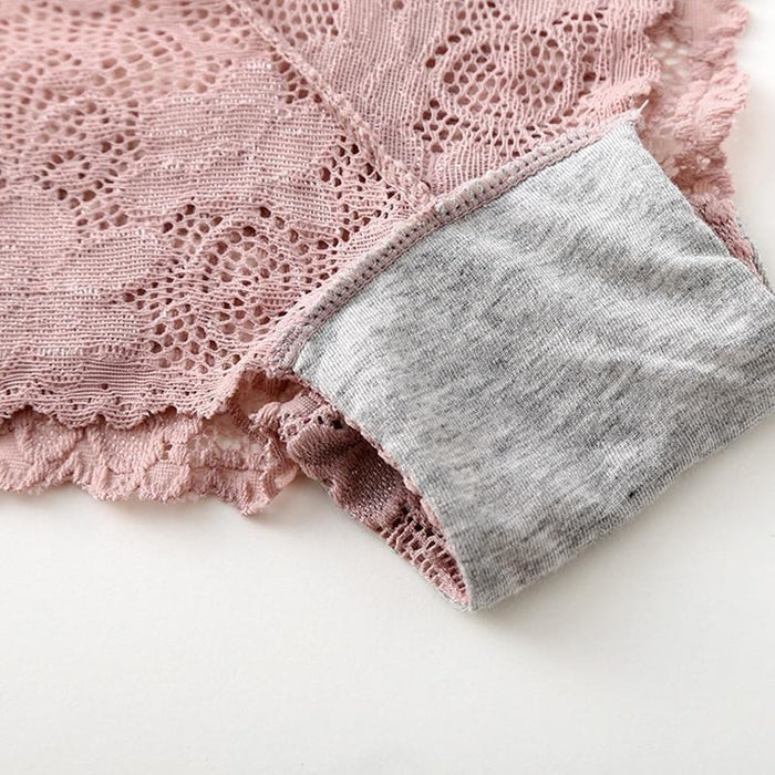 Lace High Quality Cotton Low Waist Panties | Bridelily - panties