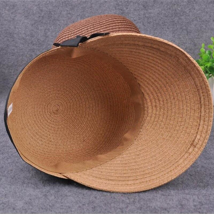 Large Brim Straw With Bow Kentucky Derby Hats | Bridelily - kentucky derby hats