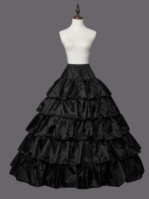 Large Ruffle 4 Hoops Tulle Wedding Petticoats | Bridelily - CPA210 black - wedding petticoats