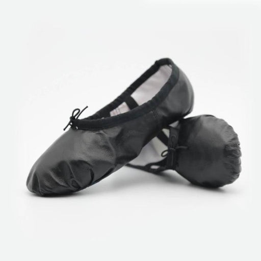 Leather Elastic Band Lace-Up Flat Dance Shoes | Bridelily - 6 / 14.5 - ballet dance shoes
