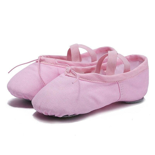 Leather Slippers Bowknot Soft Ballet Dance Shoes | Bridelily - Pink / 4 - ballet dance shoes