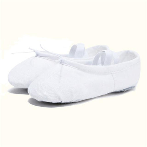 Leather Slippers Bowknot Soft Ballet Dance Shoes | Bridelily - white 1 / 4 - ballet dance shoes