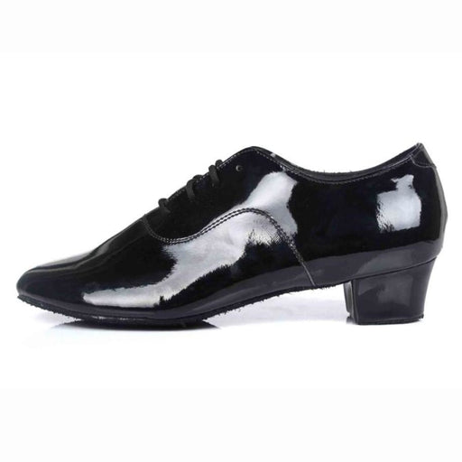 Leather Square Heeled Latin Ballroom Dance Shoes | Bridelily - WZJ PU / 14.5 - jazz dance shoes