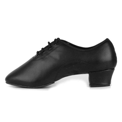 Leather Square Heeled Tango Ballroom Dance Shoes | Bridelily - Black Rubber sole / 11.5 - jazz dance shoes