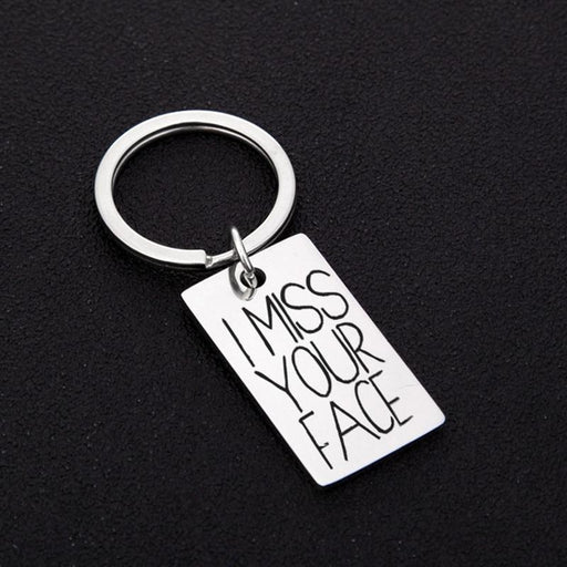 Letter Classic miss you Zinc Alloy Keychain Favors | Bridelily - keychain favors
