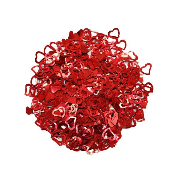 Love Heart Wedding Decorations (600pcs) | Bridelily - red - wedding decorations