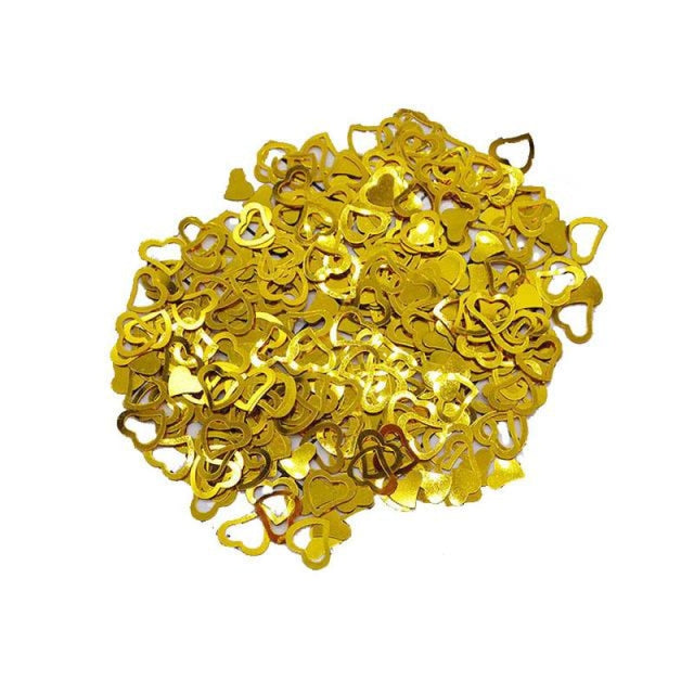 Love Heart Wedding Decorations (600pcs) | Bridelily - gold - wedding decorations