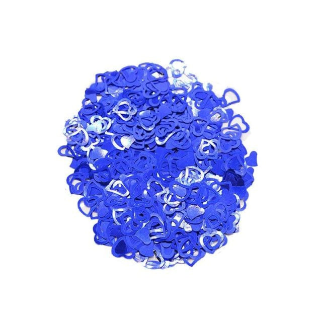 Love Heart Wedding Decorations (600pcs) | Bridelily - blue - wedding decorations