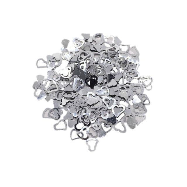Love Heart Wedding Decorations (600pcs) | Bridelily - silver - wedding decorations