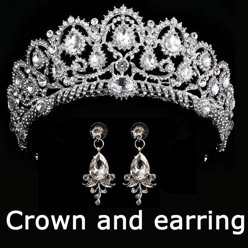 Luxurious Crown Queen Crystal Tiaras | Bridelily - silver 2 - tiaras