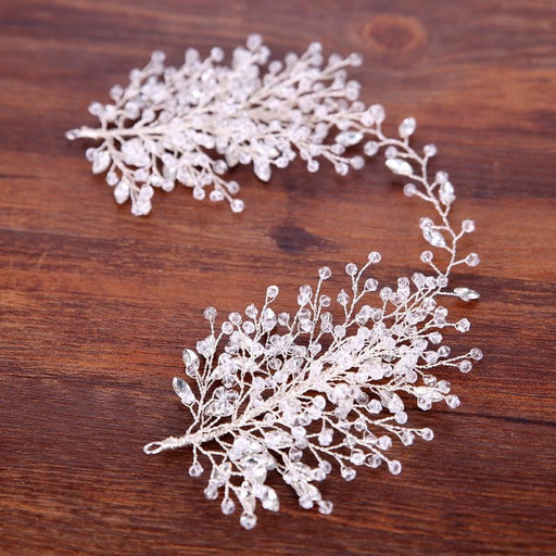 Luxurious Rhinestone Beaded Womens Tiaras | Bridelily - tiaras