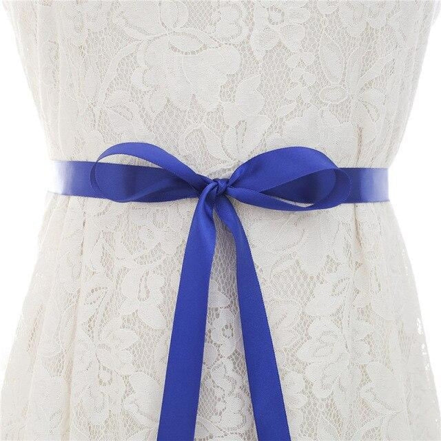 Luxurious Rhinestones Women Wedding Sashes | Bridelily - royal blue / One Size - wedding sashes