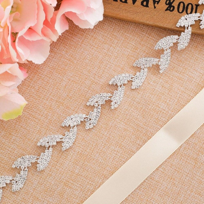 Luxurious Rhinestones Women Wedding Sashes | Bridelily - wedding sashes
