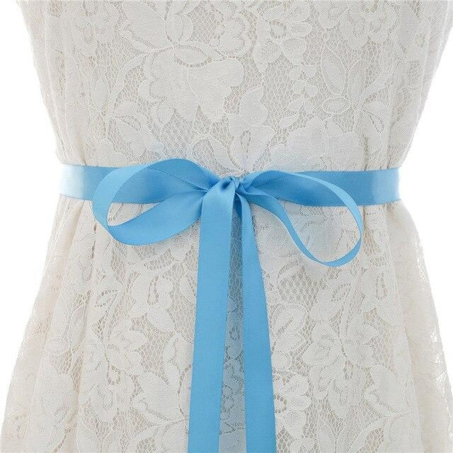 Luxurious Rhinestones Women Wedding Sashes | Bridelily - blue / One Size - wedding sashes