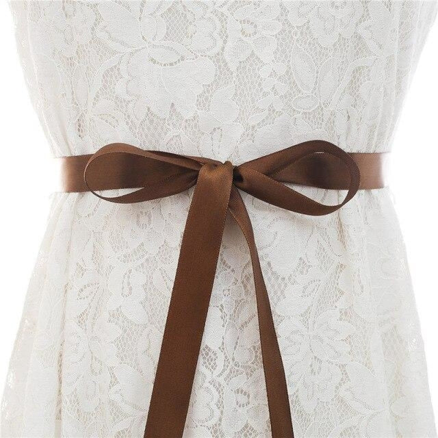 Luxurious Rhinestones Women Wedding Sashes | Bridelily - brown / One Size - wedding sashes