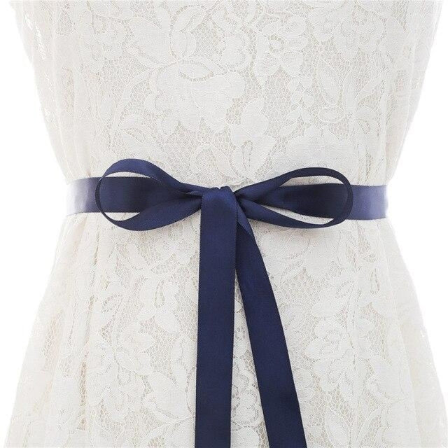 Luxurious Rhinestones Women Wedding Sashes | Bridelily - dark blue / One Size - wedding sashes